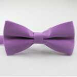 bowtie purple satin