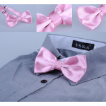 Pink bowtie on a metal fastener