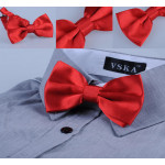 Red bowtie on a metal fastener