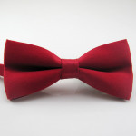 bowtie dark red matte