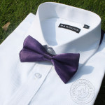 bowtie dark purple solid