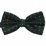 bowtie green with yellow polka dots