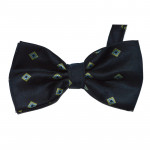 bowtie in dark blue diamond