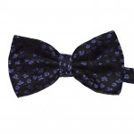 bowtie with purple flowers