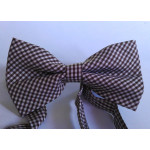 bowtie cage (brown, white)