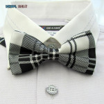 bowtie in black and white checkered