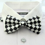 bowtie in black and white square