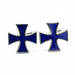 Запонки Roman French Style Blue Cross  Bow Tie House 06497