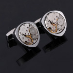 Запонки Watch Movement - Silver Bow Tie House 09970
