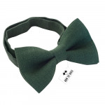 Бабочка Hunter Green льняная Bow Tie House 10108