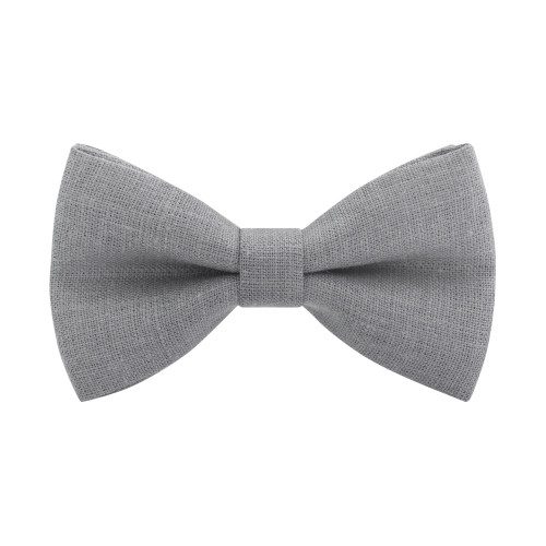 Бабочка льняная серая Stone Grey-M Bow Tie House 10136