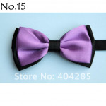 bowtie two-layer black / light purple