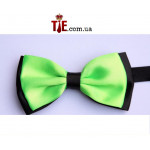 bowtie two-layer light green / black