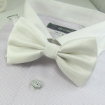 Stylish white bowtie