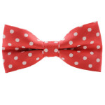 Fashionable bowtie in red and white large square