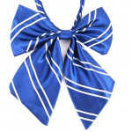 Women's bowtie blue stripes