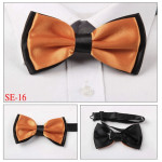 bowtie two-layer orange / black