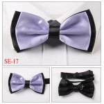 Double layer bow tie lilac