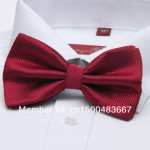 bowtie stylish dark red with black thread