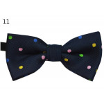 bowtie small pink with white polka dots