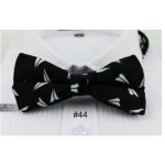 "bowtie black velvet ""White Sail"""