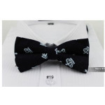 bowtie black velvet with crowns