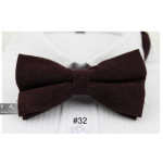 bowtie brown velvet