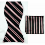 Bow tie black stripes + scarf